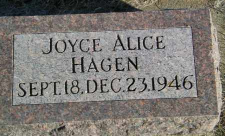 HAGEN, JOYCE ALICE - Lincoln County, South Dakota | JOYCE ALICE HAGEN - South Dakota Gravestone Photos