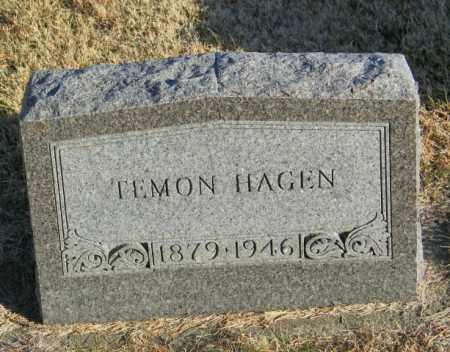 HAGEN, TEMON - Lincoln County, South Dakota | TEMON HAGEN - South Dakota Gravestone Photos