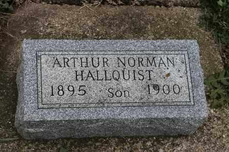 HALLQUIST, ARTHUR NORMAN - Lincoln County, South Dakota   ARTHUR NORMAN HALLQUIST - South Dakota Gravestone Photos
