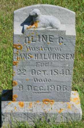 HALVORSEN, OLINE C - Lincoln County, South Dakota | OLINE C HALVORSEN - South Dakota Gravestone Photos