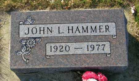 HAMMER, JOHN L. - Lincoln County, South Dakota | JOHN L. HAMMER - South Dakota Gravestone Photos