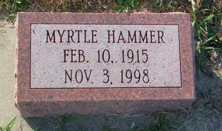 HAMMER, MYRTLE - Lincoln County, South Dakota | MYRTLE HAMMER - South Dakota Gravestone Photos