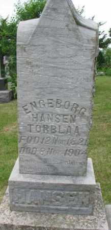 HANSEN, ENGEBORG - Lincoln County, South Dakota   ENGEBORG HANSEN - South Dakota Gravestone Photos