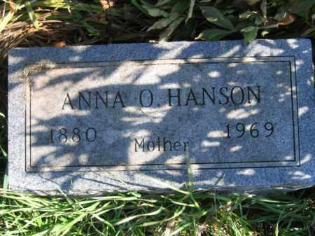 FODNESS HANSON, ANNA OLINE - Lincoln County, South Dakota | ANNA OLINE FODNESS HANSON - South Dakota Gravestone Photos