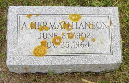HANSON, A HERMAN - Lincoln County, South Dakota | A HERMAN HANSON - South Dakota Gravestone Photos