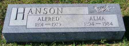 HANSON, ALFRED - Lincoln County, South Dakota | ALFRED HANSON - South Dakota Gravestone Photos