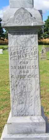 HANSON, ANDRES J. - Lincoln County, South Dakota | ANDRES J. HANSON - South Dakota Gravestone Photos
