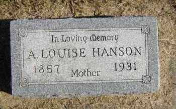 HANSON, A LOUISE - Lincoln County, South Dakota | A LOUISE HANSON - South Dakota Gravestone Photos