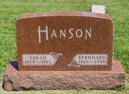 HANSON, BERNARD - Lincoln County, South Dakota | BERNARD HANSON - South Dakota Gravestone Photos