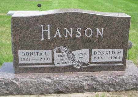 HANSON, BONITA L. - Lincoln County, South Dakota | BONITA L. HANSON - South Dakota Gravestone Photos
