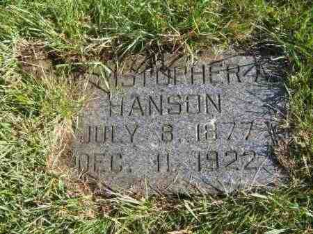 HANSON, CHRISTOPHER A - Lincoln County, South Dakota | CHRISTOPHER A HANSON - South Dakota Gravestone Photos