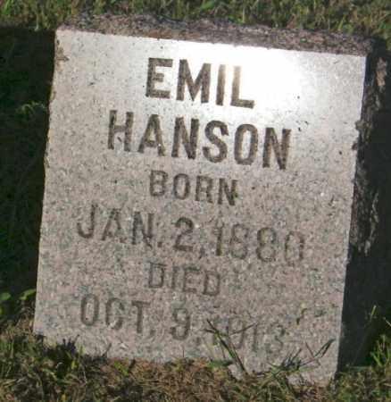 HANSON, EMIL - Lincoln County, South Dakota | EMIL HANSON - South Dakota Gravestone Photos