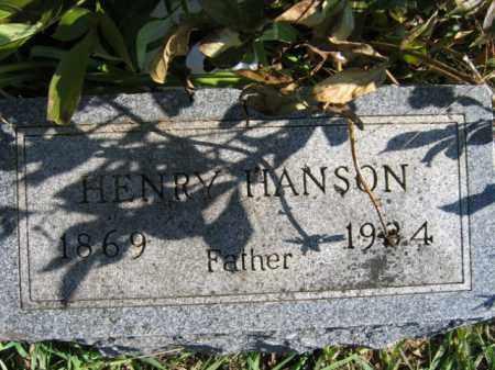 HANSON, HENRY - Lincoln County, South Dakota | HENRY HANSON - South Dakota Gravestone Photos
