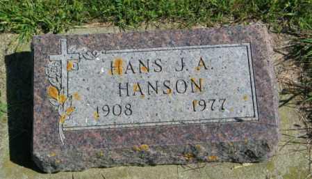 HANSON, HANS J. A. - Lincoln County, South Dakota | HANS J. A. HANSON - South Dakota Gravestone Photos