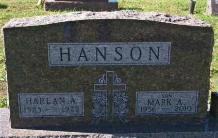 HANSON, MARK A. - Lincoln County, South Dakota | MARK A. HANSON - South Dakota Gravestone Photos