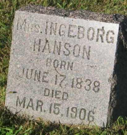 HANSON, INGEBORG - Lincoln County, South Dakota   INGEBORG HANSON - South Dakota Gravestone Photos