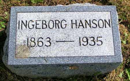 HANSON, INGEBORG - Lincoln County, South Dakota | INGEBORG HANSON - South Dakota Gravestone Photos