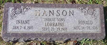 HANSON, INFANT - Lincoln County, South Dakota | INFANT HANSON - South Dakota Gravestone Photos