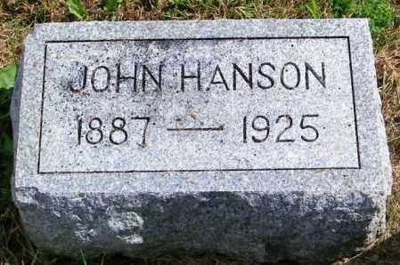 HANSON, JOHN - Lincoln County, South Dakota   JOHN HANSON - South Dakota Gravestone Photos