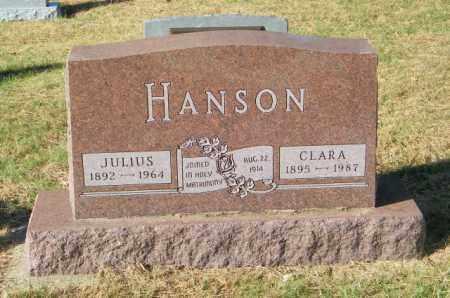 HANSON, JULIUS - Lincoln County, South Dakota | JULIUS HANSON - South Dakota Gravestone Photos