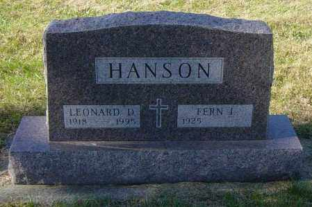 HANSON, FERN I - Lincoln County, South Dakota | FERN I HANSON - South Dakota Gravestone Photos