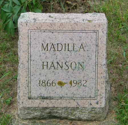 HANSON, MADILLA - Lincoln County, South Dakota   MADILLA HANSON - South Dakota Gravestone Photos