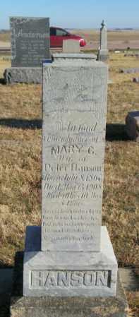 HANSON, MARY G - Lincoln County, South Dakota | MARY G HANSON - South Dakota Gravestone Photos