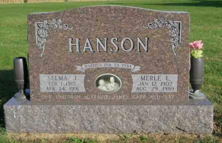 HANSON, MERLE L. - Lincoln County, South Dakota   MERLE L. HANSON - South Dakota Gravestone Photos