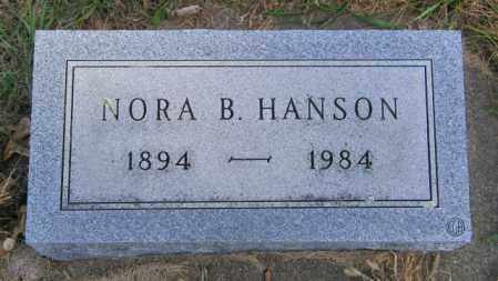 HANSON, NORA B. - Lincoln County, South Dakota | NORA B. HANSON - South Dakota Gravestone Photos