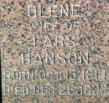 HANSON, OLENE - Lincoln County, South Dakota | OLENE HANSON - South Dakota Gravestone Photos