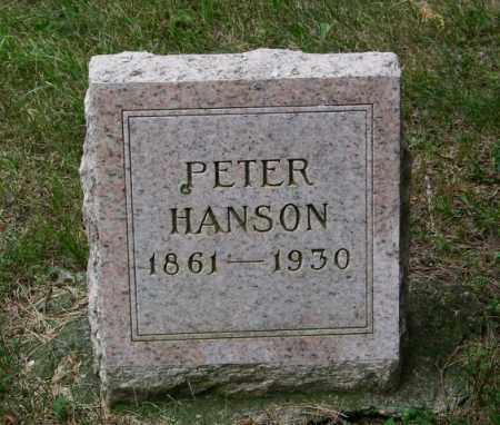 HANSON, PETER - Lincoln County, South Dakota   PETER HANSON - South Dakota Gravestone Photos