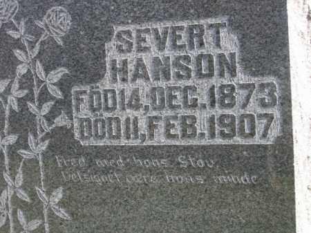 HANSON, SEVERT - Lincoln County, South Dakota | SEVERT HANSON - South Dakota Gravestone Photos