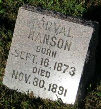 HANSON, TORVAL - Lincoln County, South Dakota   TORVAL HANSON - South Dakota Gravestone Photos