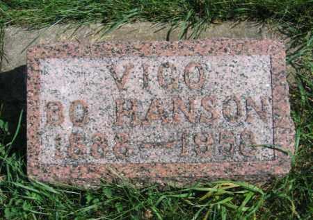 HANSON, VIGO BO - Lincoln County, South Dakota   VIGO BO HANSON - South Dakota Gravestone Photos