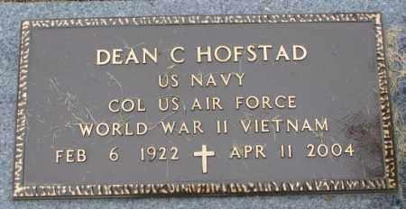 HOFSTAD, DEAN C. (MILITARY) - Lincoln County, South Dakota   DEAN C. (MILITARY) HOFSTAD - South Dakota Gravestone Photos