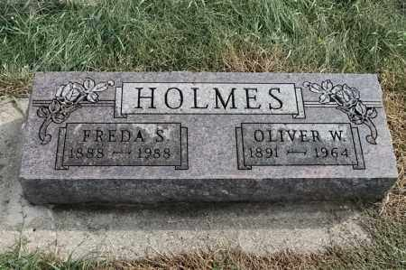 HOLMES, OLIVER W - Lincoln County, South Dakota | OLIVER W HOLMES - South Dakota Gravestone Photos