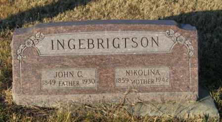 INGEBRIGTSON, NIKOLINA - Lincoln County, South Dakota | NIKOLINA INGEBRIGTSON - South Dakota Gravestone Photos