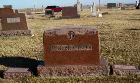 INGEBRIGTSON PLOT, EDWIN - Lincoln County, South Dakota   EDWIN INGEBRIGTSON PLOT - South Dakota Gravestone Photos