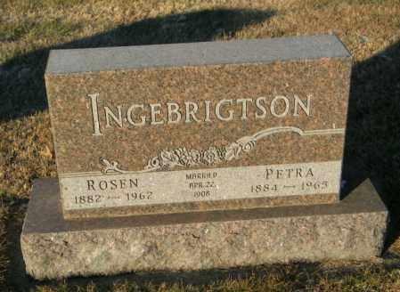 INGEBRIGTSON, PETRA - Lincoln County, South Dakota | PETRA INGEBRIGTSON - South Dakota Gravestone Photos