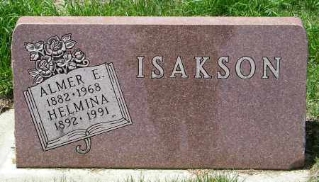 ISAKSON, HELMINA - Lincoln County, South Dakota | HELMINA ISAKSON - South Dakota Gravestone Photos