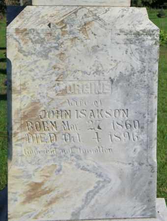 ISAKSON, JORGINE - Lincoln County, South Dakota | JORGINE ISAKSON - South Dakota Gravestone Photos