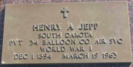 JEPP, HENRY A. - Lincoln County, South Dakota   HENRY A. JEPP - South Dakota Gravestone Photos