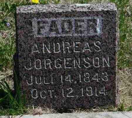 JORGENSON, ANDREAS - Lincoln County, South Dakota   ANDREAS JORGENSON - South Dakota Gravestone Photos