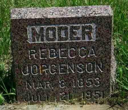 JORGENSON, REBECCA - Lincoln County, South Dakota | REBECCA JORGENSON - South Dakota Gravestone Photos