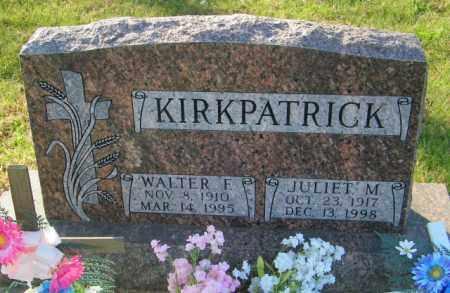 KIRKPATRICK, WALTER F. - Lincoln County, South Dakota   WALTER F. KIRKPATRICK - South Dakota Gravestone Photos