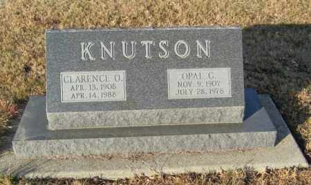 KNUTSON, CLARENCE O - Lincoln County, South Dakota | CLARENCE O KNUTSON - South Dakota Gravestone Photos