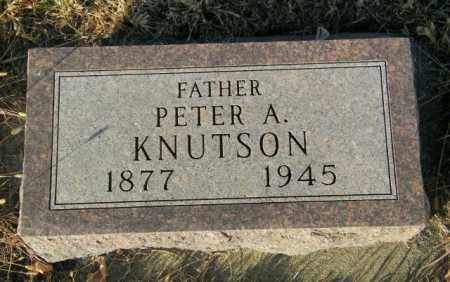 KNUTSON, PETER A - Lincoln County, South Dakota   PETER A KNUTSON - South Dakota Gravestone Photos