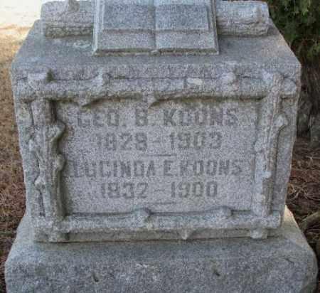 KOONS, GEORGE B. - Lincoln County, South Dakota   GEORGE B. KOONS - South Dakota Gravestone Photos