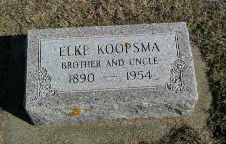 KOOPSMA, ELKE - Lincoln County, South Dakota   ELKE KOOPSMA - South Dakota Gravestone Photos