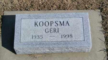 KOOPSMA, GERI - Lincoln County, South Dakota | GERI KOOPSMA - South Dakota Gravestone Photos